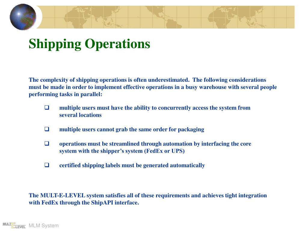 Shipping Operations