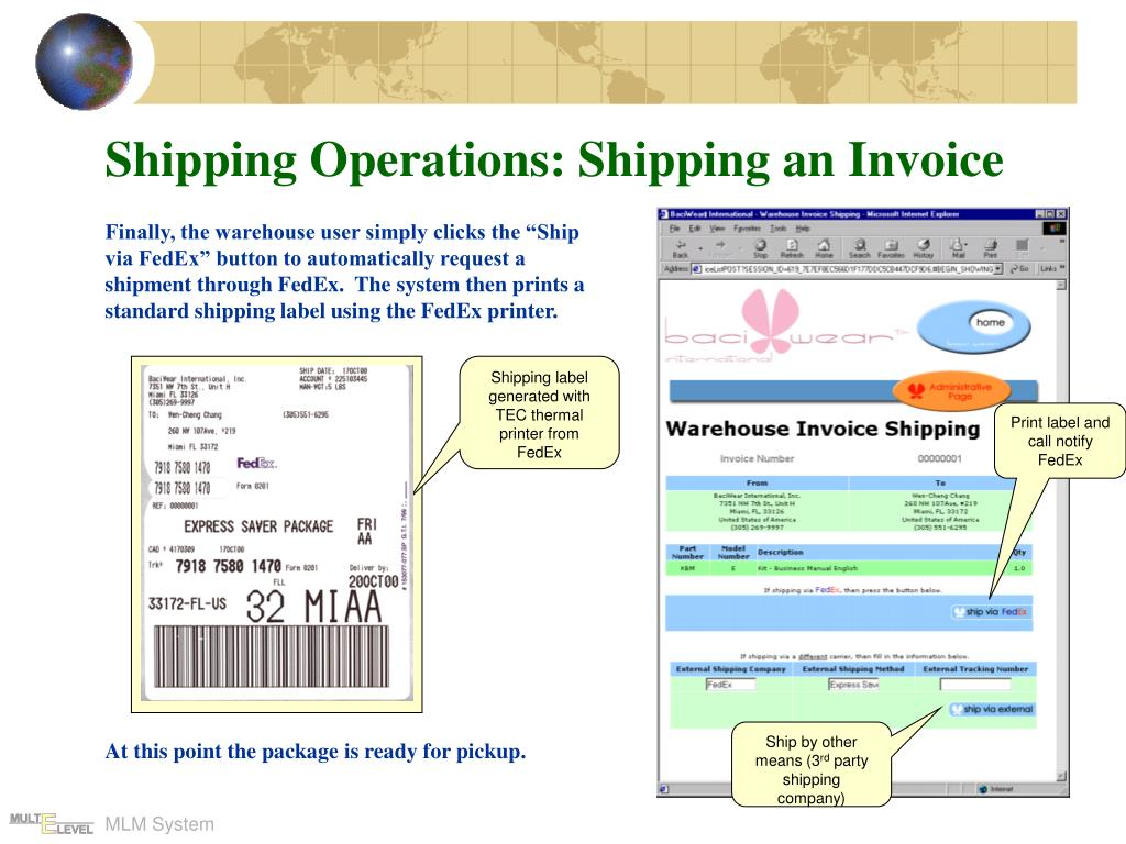 Shipping Operations: Shipping an Invoice