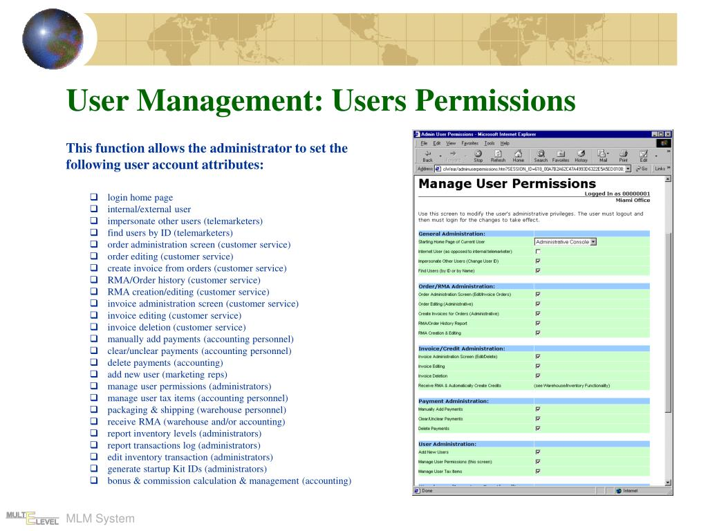 User Management: Users Permissions