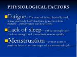 physiological factors1