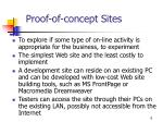 proof of concept sites