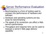 server performance evaluation