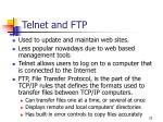 telnet and ftp