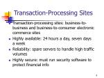 transaction processing sites