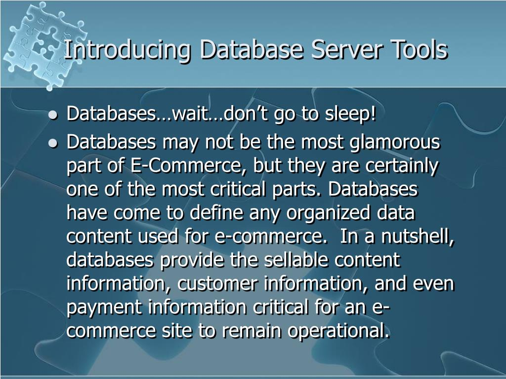Introducing Database Server Tools