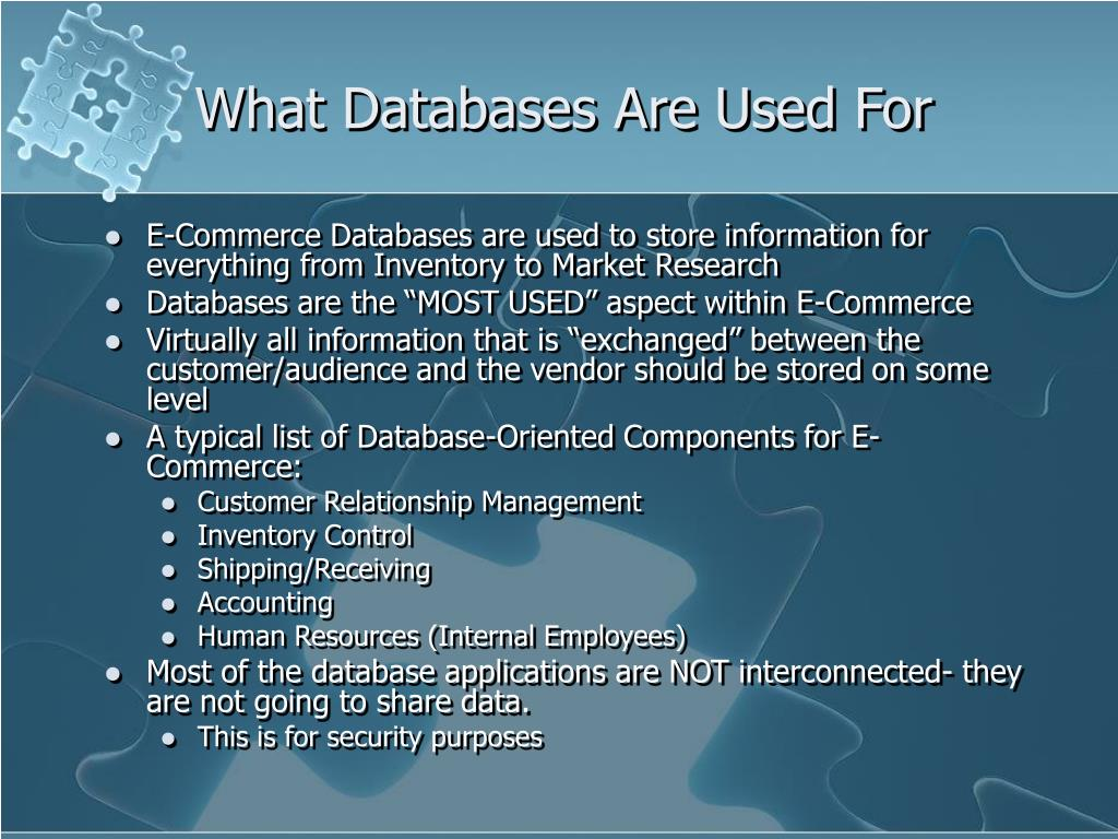 What Databases Are Used For