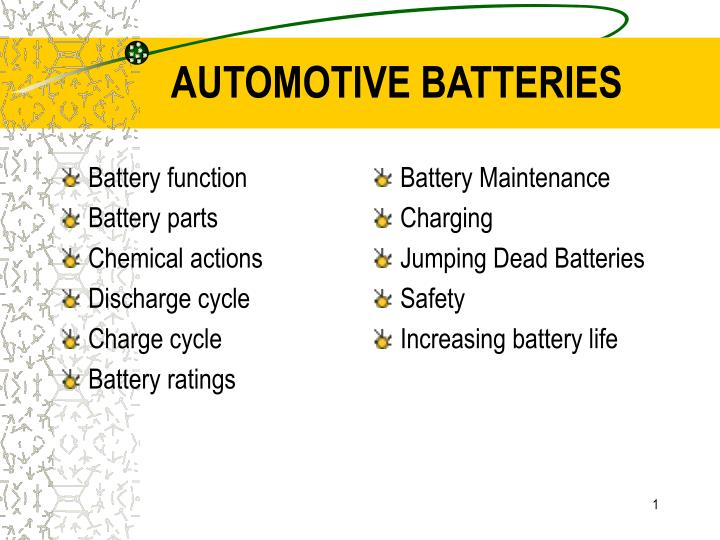 automotive batteries n.