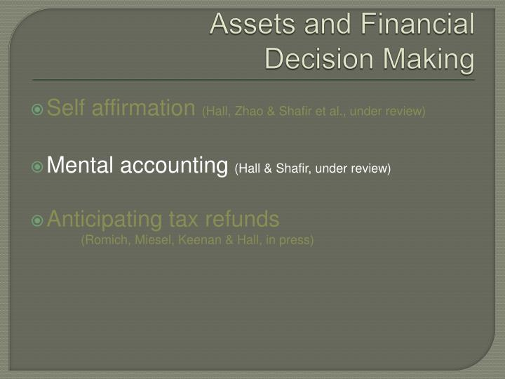 Assets and Financial