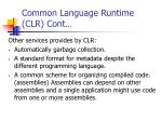common language runtime clr cont