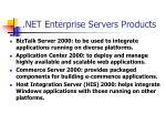net enterprise servers products
