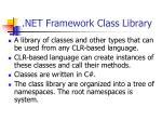 net framework class library