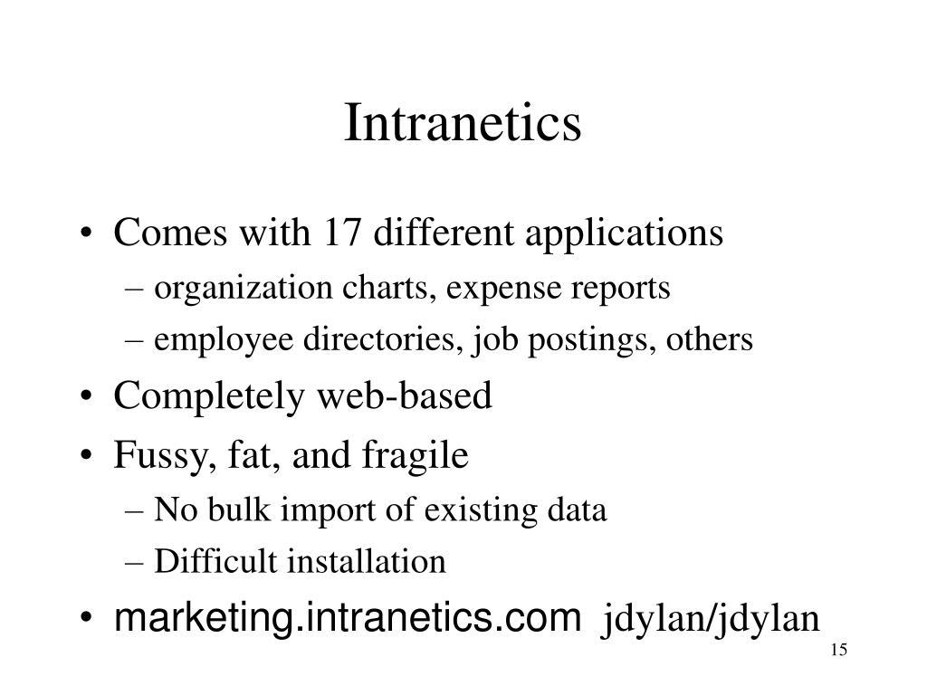 Intranetics
