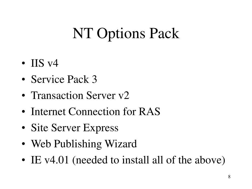 NT Options Pack