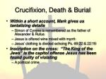 crucifixion death burial