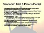 sanhedrin trial peter s denial