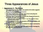 three appearances of jesus1