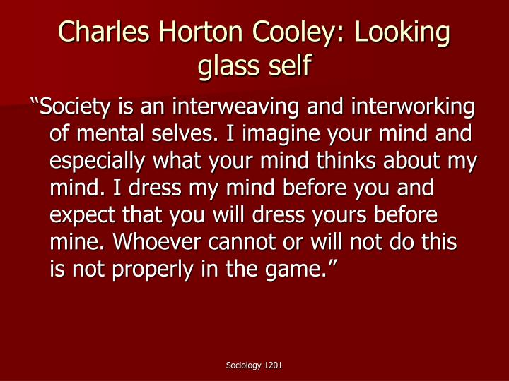 Charles horton cooley looking glass self