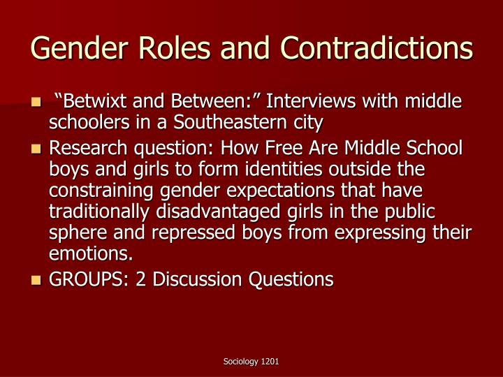 Gender Roles and Contradictions