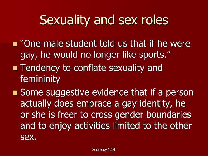 Sexuality and sex roles