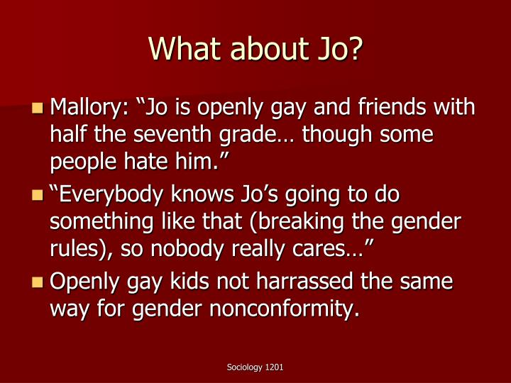 What about Jo?