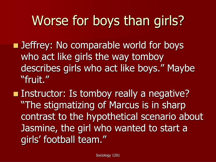 Worse for boys than girls?