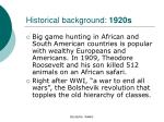 historical background 1920s