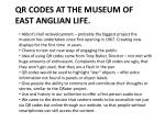 qr codes at the museum of east anglian life