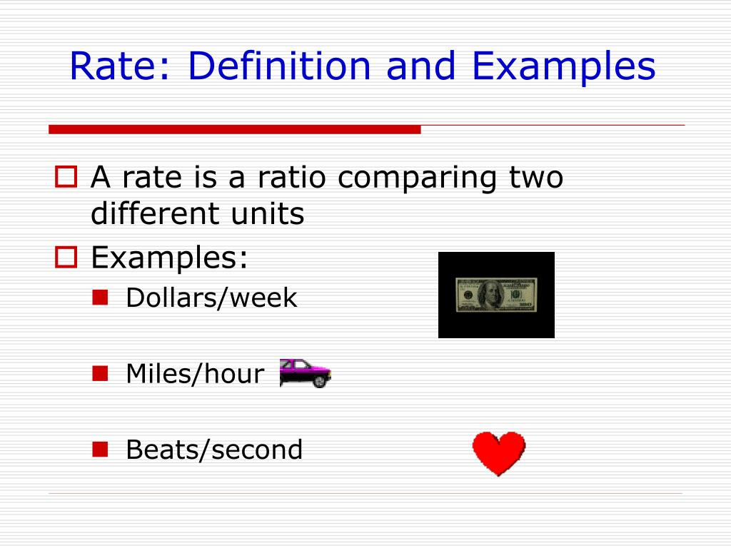 Rate: Definition and Examples
