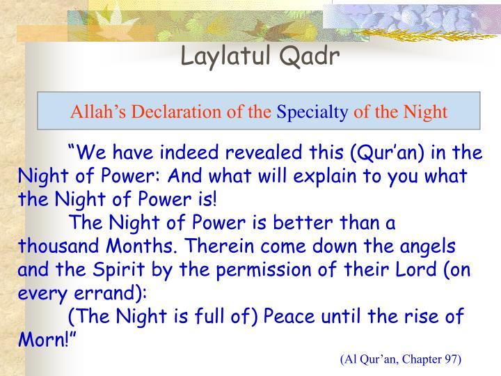 Laylatul Qadr