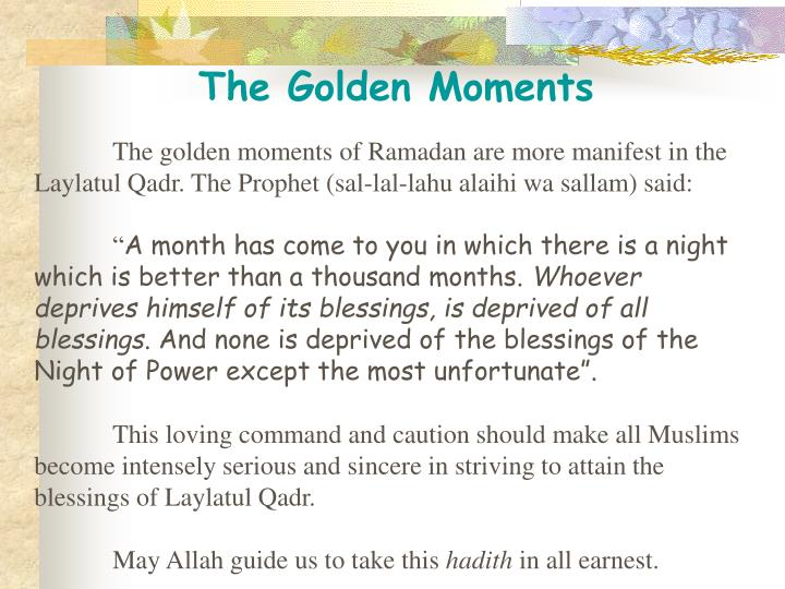 The Golden Moments
