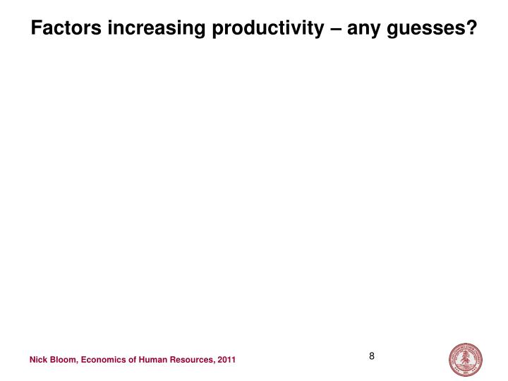 Factors increasing productivity – any guesses?