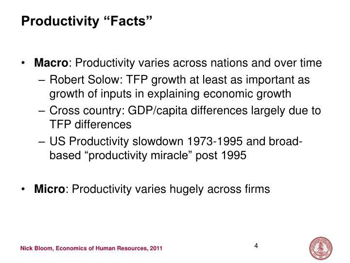 "Productivity ""Facts"""