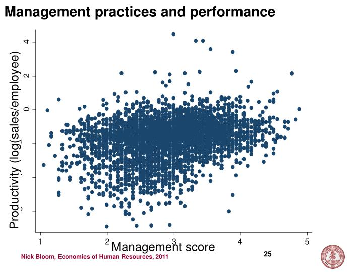 Management practices and performance