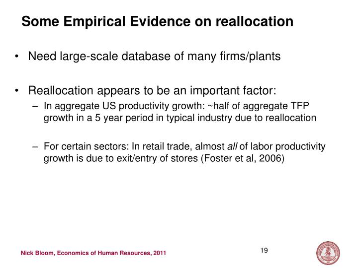 Some Empirical Evidence on reallocation