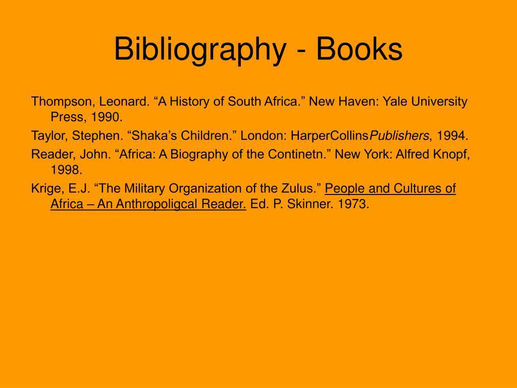 Bibliography - Books
