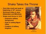 shaka takes the throne