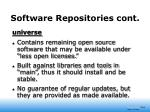 software repositories cont15