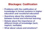 blockages codification