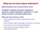 what do we know about reflection