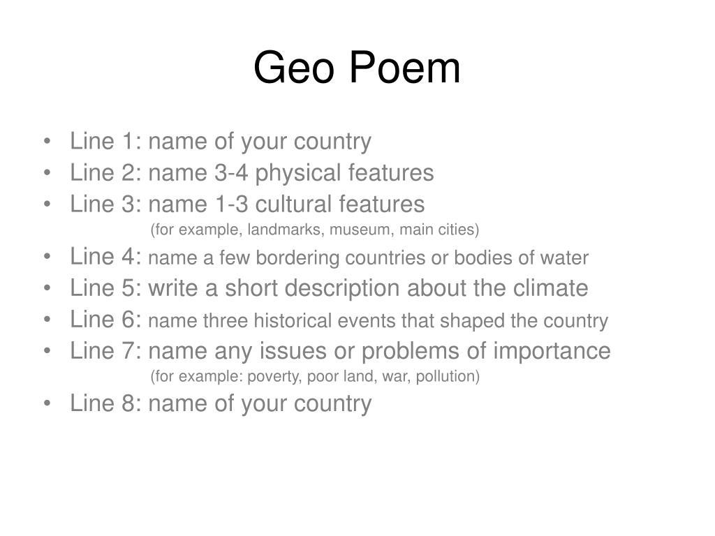 Geo Poem