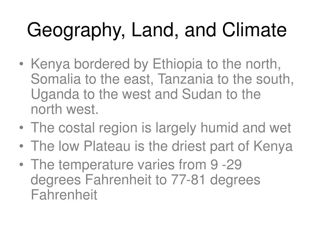 Geography, Land, and Climate