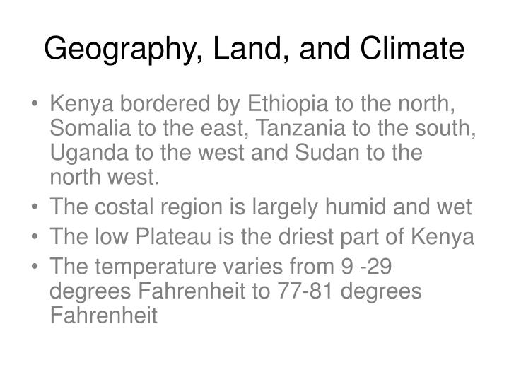 Geography land and climate
