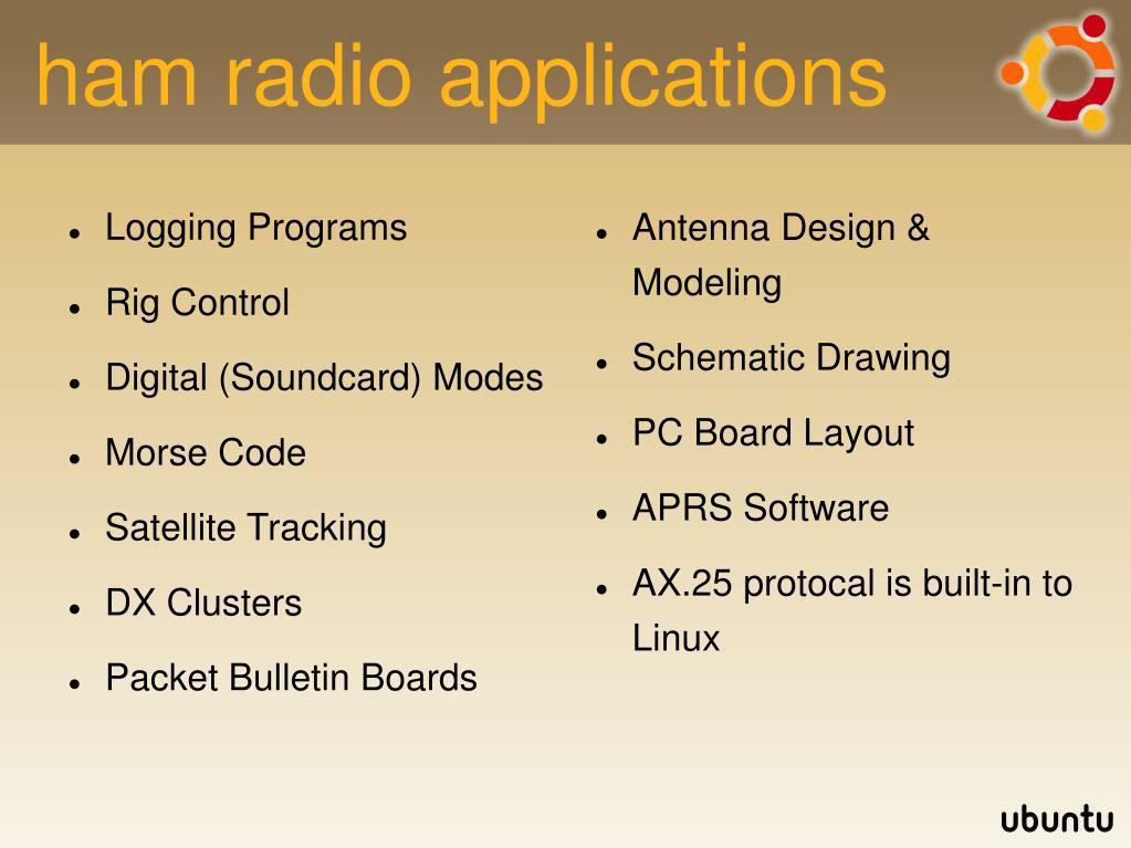 ham radio applications