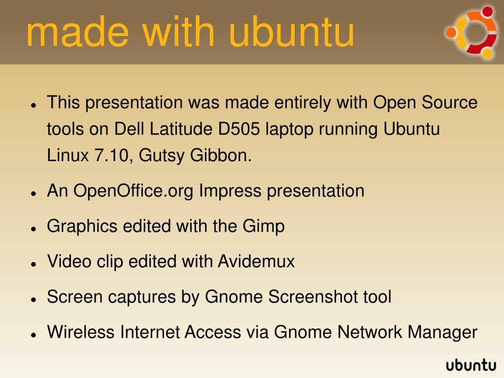 made with ubuntu