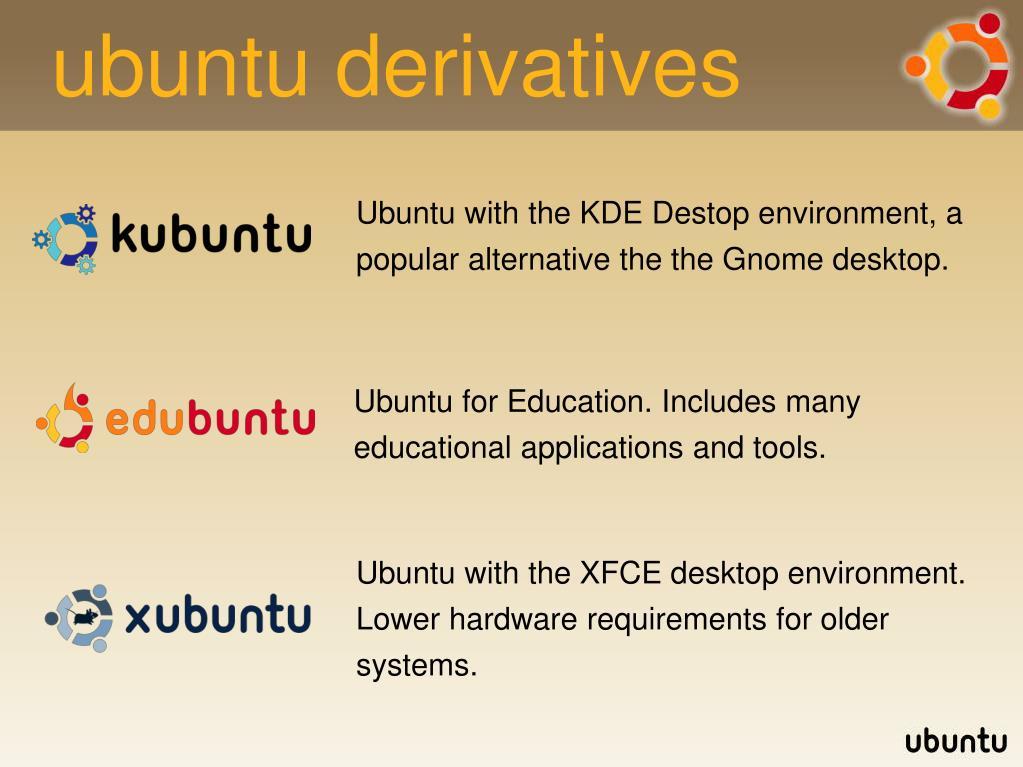 ubuntu derivatives