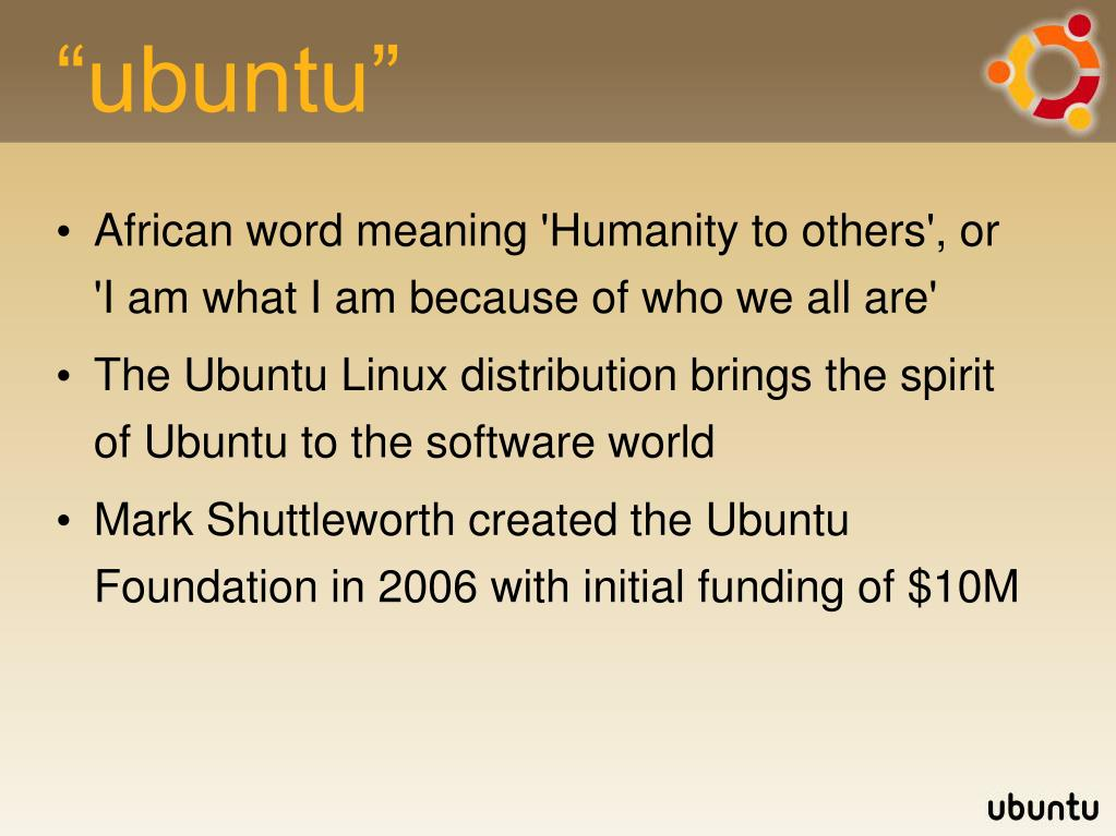 """ubuntu"""