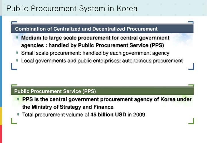Public Procurement System in Korea