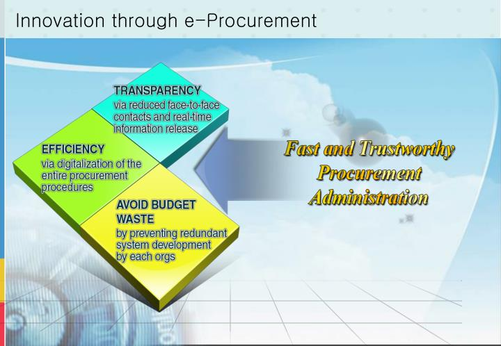 Innovation through e-Procurement