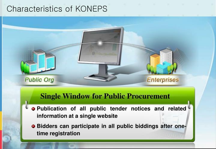 Characteristics of KONEPS