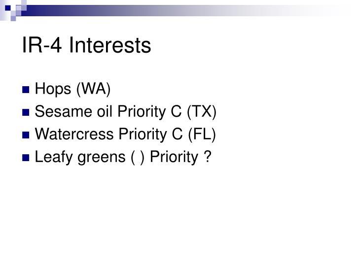 IR-4 Interests